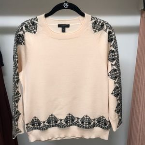 J. Crew blush pink embroidered sweater in small